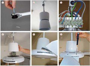 Come montare un ventilatore