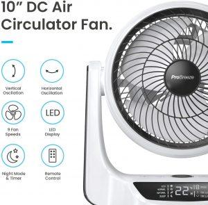 Pro Breeze Ventilatore da Tavolo Turbo